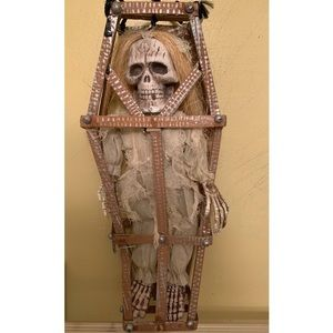 Other - HALLOWEEN Hanging Skeleton In Coffin Decor